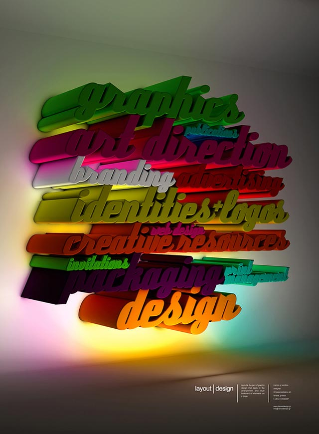 Layout Design 2012 advertsing typography