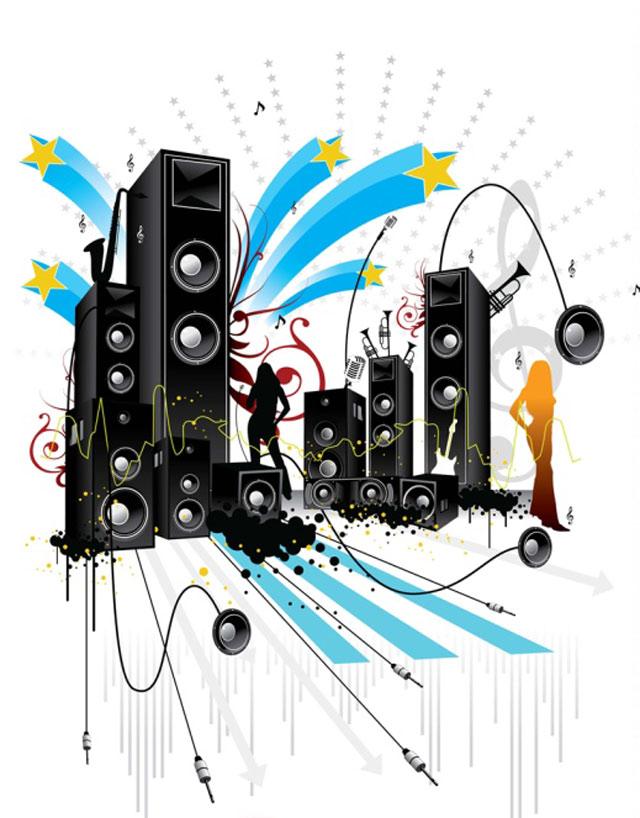 Pop Art Style Music Vector