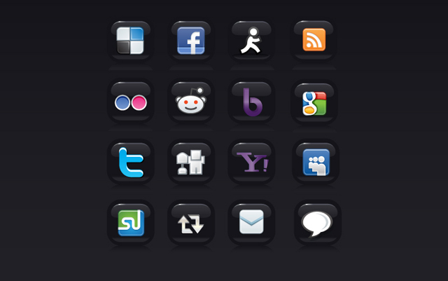 Vector Social Media Buttons