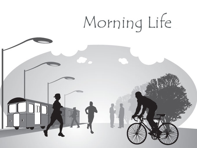 Vector Illustration of Morning Life