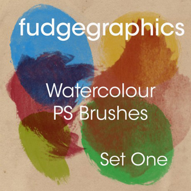 High Resolution Watercolor Photoshop Brushes