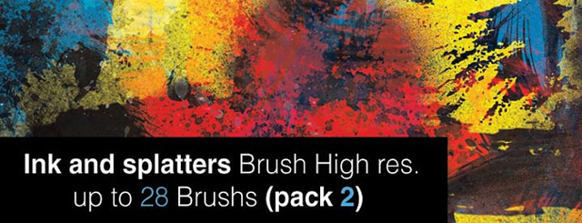 Ink and Splatter Brushes