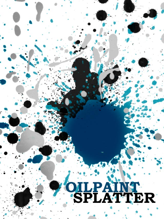 Oil Paint Splatter Brushes