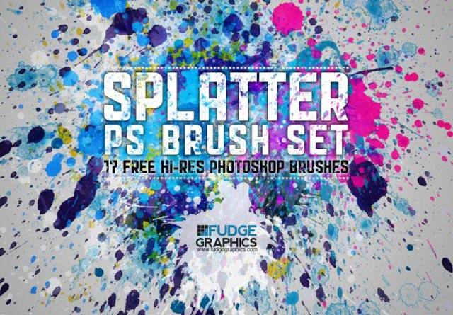 Hi-Res Splatter Photoshop Brush Set