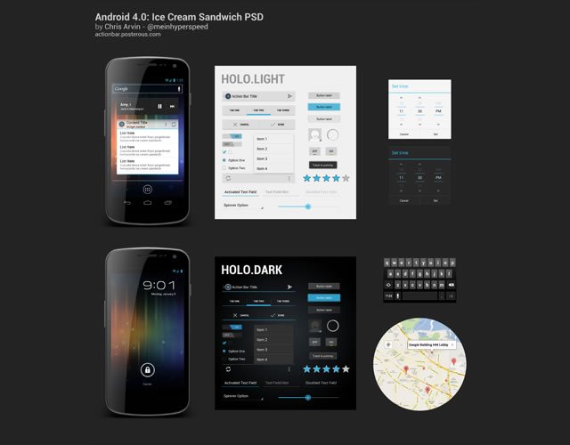 Android 4 0 Ice Cream Sandwich Ui Free Template