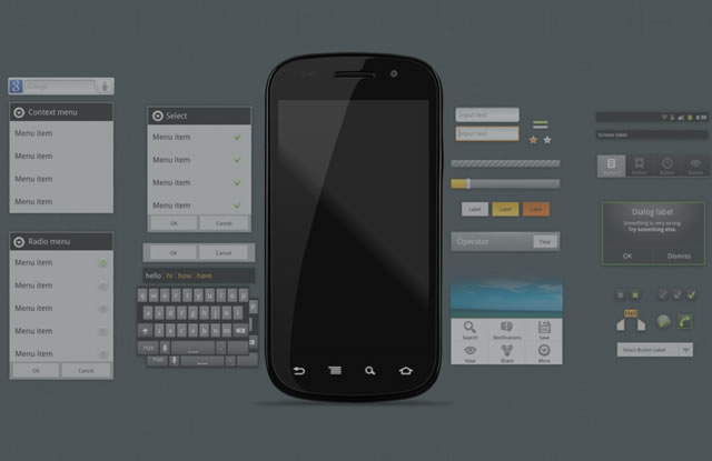 Android 2.3 GUI psd