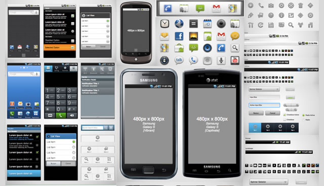 android 21 wireframe stencil - Android Ui Maker