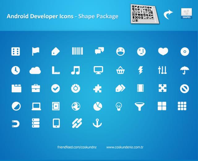 Android Icons Custom Photoshop Shape