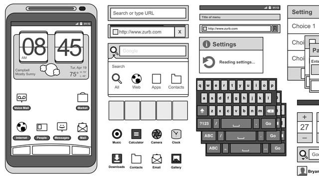 Android 2.3 Omnigraffle Stencils