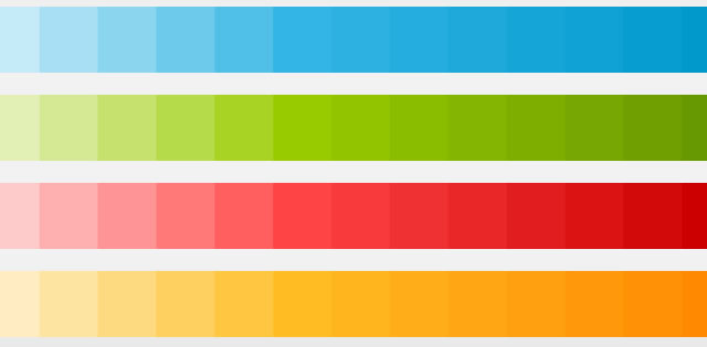 Android 4.0 Color Swatches Downloads