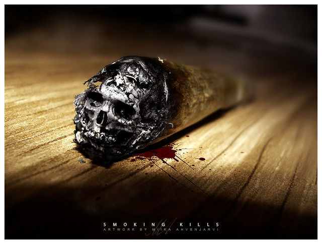 Smoking kills example of surreal in graphic design