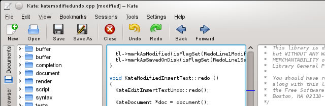 Kate - Programming Text Editor