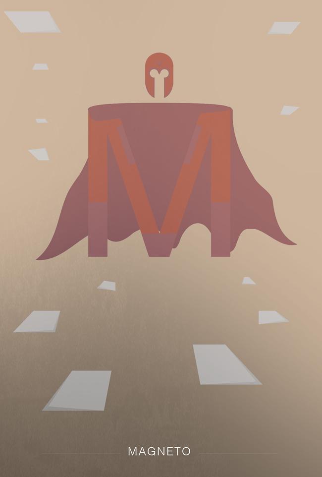 alphabet letter M helvetica superheroes font superhero magneto x-men
