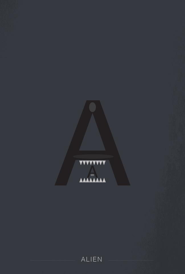 alphabet letter A helvetica superheroes font superhero alien