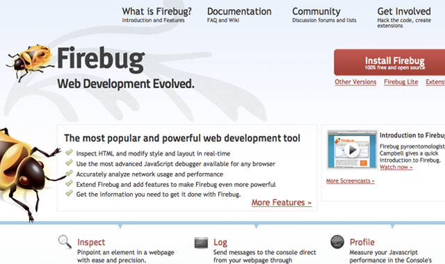Firebug javascript code debugging website download free install