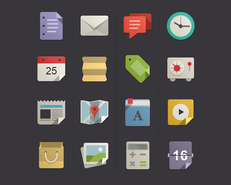 Flat Design Icons Set Vol1 free Flat Icon Set