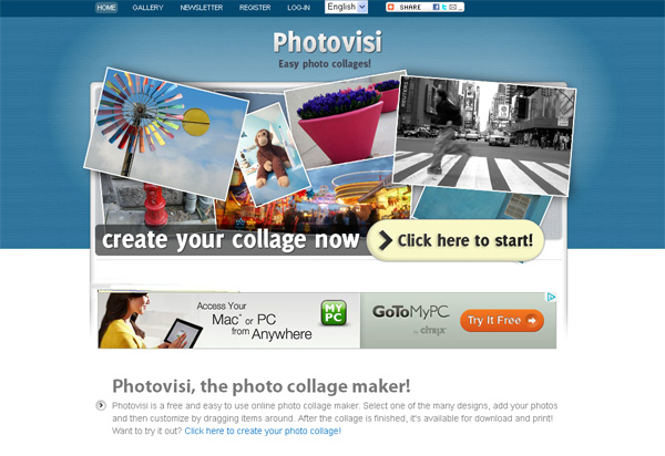 Photovisi is an easy-to-use and absolutely free collage maker