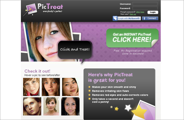 PicTreat tool will fit everybody especially those photo fans who are going to retouch their photos