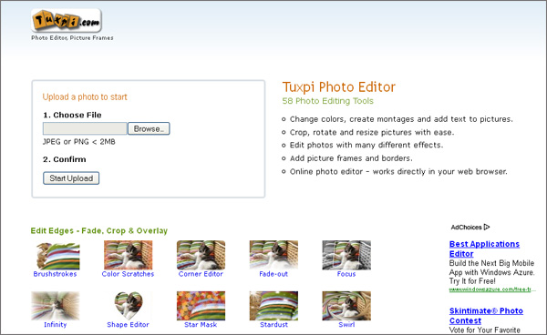 Tuxpi Photo Editor 58 editing tools which will make your pictures better