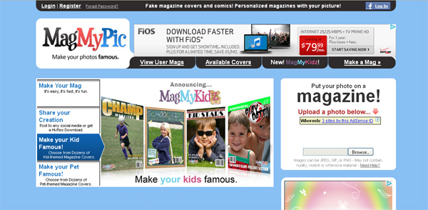 MagMyPic fake magazine covers templates