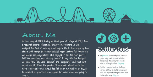 Denise Chandler makes great use of circles web design