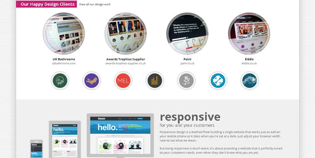 Bronco makes great use of circles web design