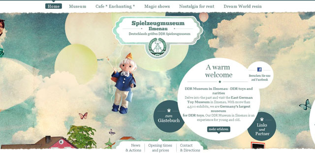 Spielzeug Museum Ilmenau makes great use of circles web design