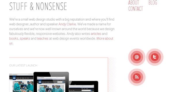 I Am Rakesh makes great use of circles web design
