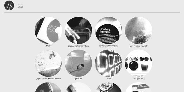 Dotmick makes great use of circles web design
