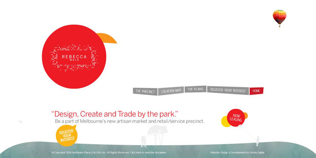 Rebecca Walk makes great use of circles web design