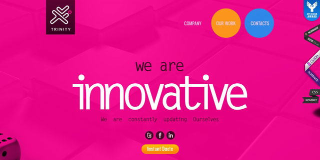 Trinity Webtech makes great use of circles web design