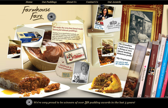 Farmhouse Fare example of parallax scrolling web design