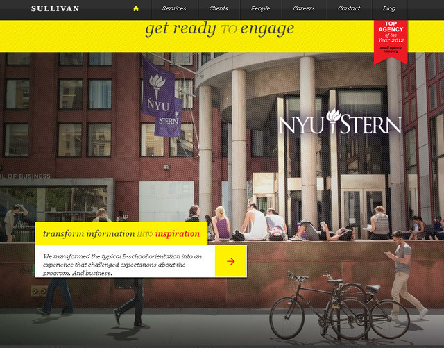 Sullivan NYC example of parallax scrolling web design