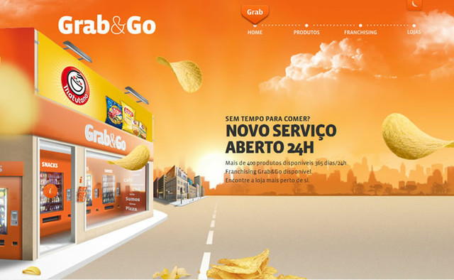 Grab and Go parallax scrolling effect in web design