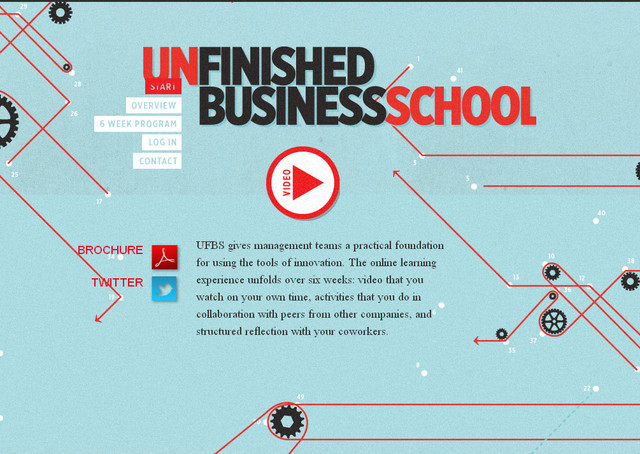 Unfinished Business parallax scrolling inspiration