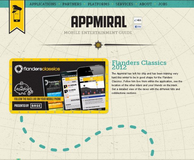 Appmiral example of parallax scrolling web design