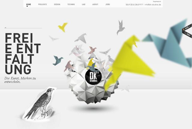 OK Studios parallax scrolling effect in web design