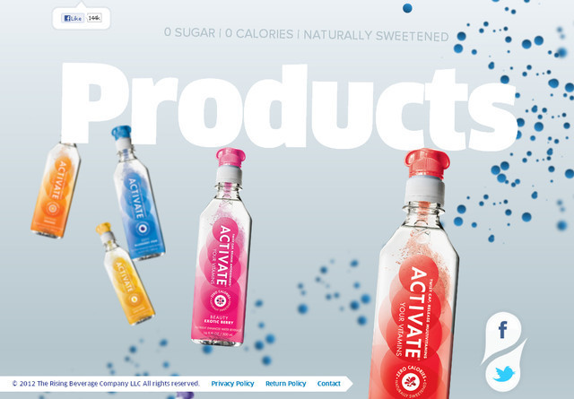 Activate Drinks parallax scrolling effect in web design