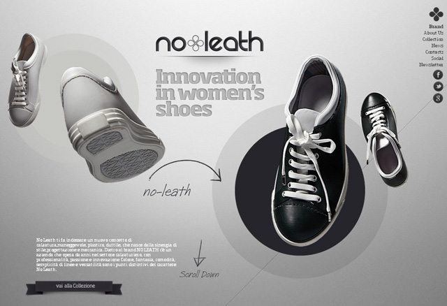 No leath parallax scrolling effect in web design