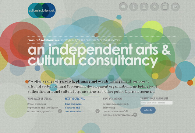 Cultural Solutions parallax scrolling effect in web design