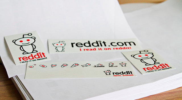 Reddit.com stickers as branding and marketing