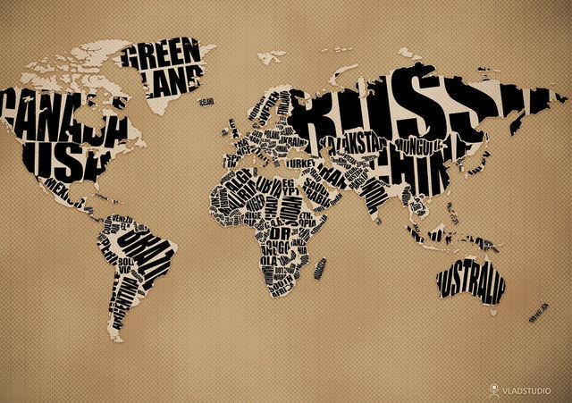 40 creatively recreated world maps typographic world map gumiabroncs Images