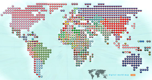 World Flags Inside Candies world map remake