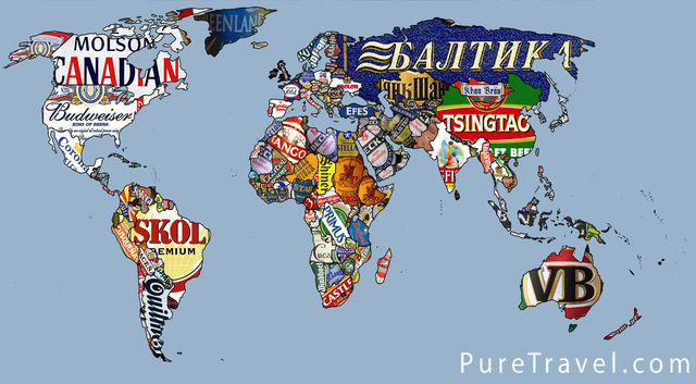 World Beer Map world map redesign
