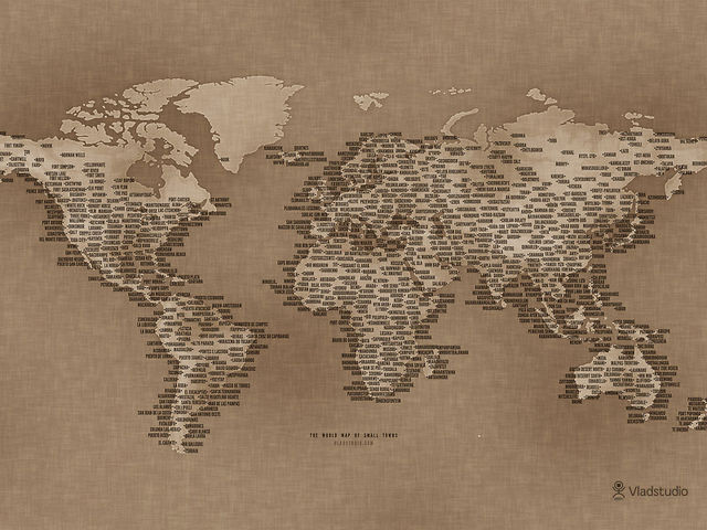 The World Map of Small Towns