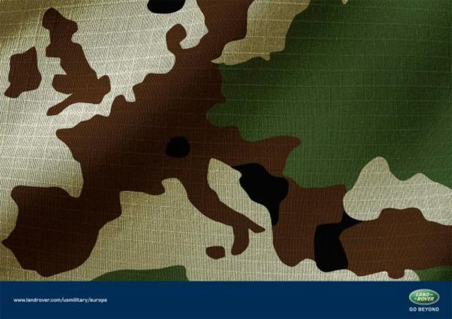 Landrover.com: Camouflage map of world