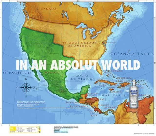 Absolut Vodka: Mexico map