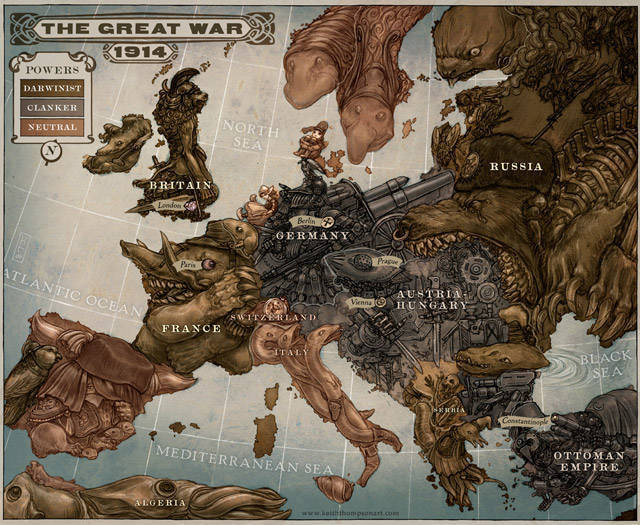 Caricature Map of Europe 1914 world map redesign
