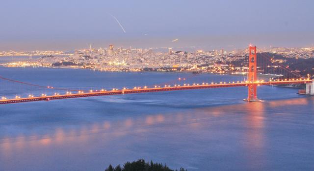 San Francisco, California night time lights