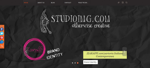 Studio Img is an example of a handdrawn style websites